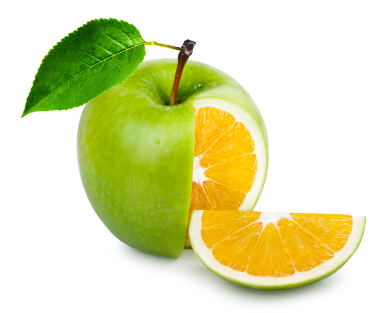 Image result for pictures of apples with oranges inside